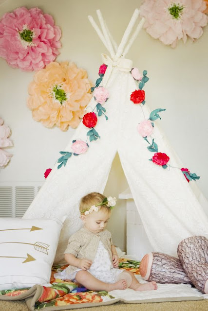 nursery with teepee