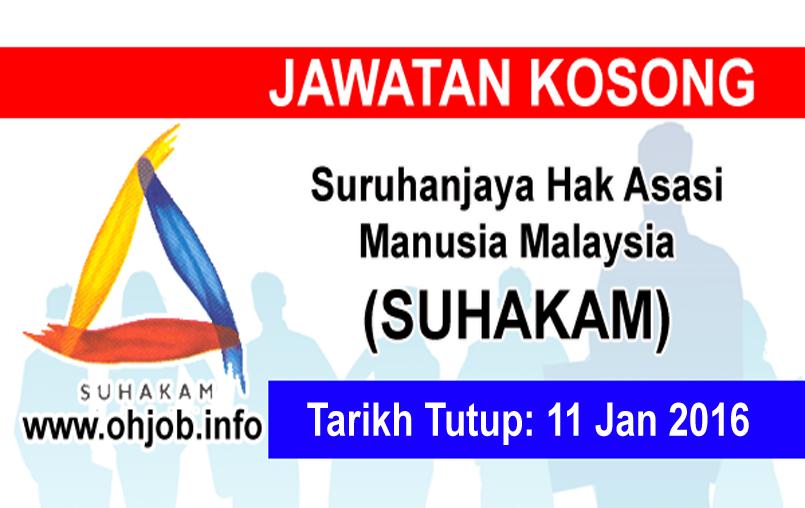 Jawatan Kerja Kosong Suruhanjaya Hak Asasi Manusia Malaysia (SUHAKAM) logo www.ohjob.info januari 2016