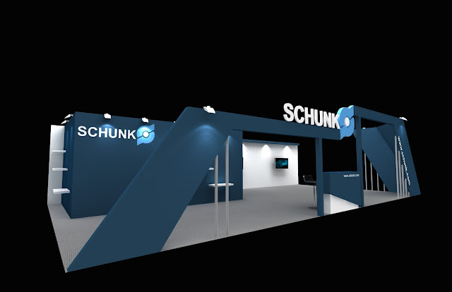 Exhibition Stall In Bangalore : Schunk exhibition stall design amit chand exhibition stall