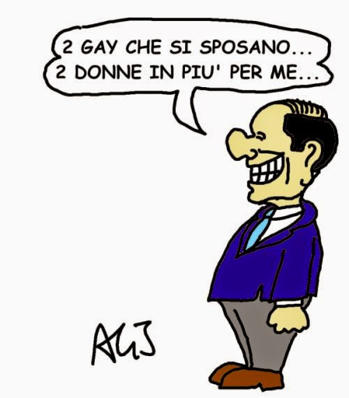 vignetta berlusconi, gay