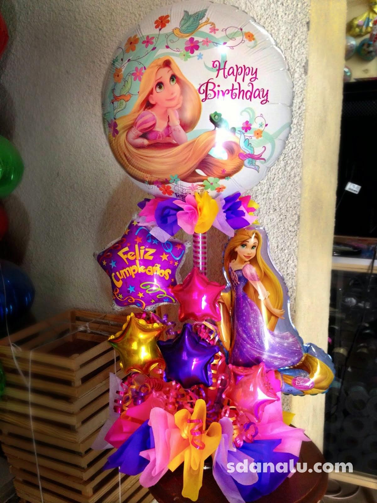Decoracion Rapunzel Globos ~ Arreglo con globos de rapunzel  SDANALU (Globos y FX) lo Mejor para