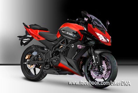 Modifikasi Minerva X-Road 150S dengan aura Kawasaki Z1000 title=