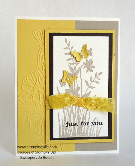 Just For You Card with Stampin' Up! Just Believe Stamp Set