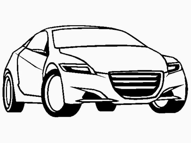 Honda CRZ Concept Coloring Sheet