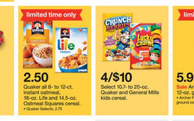 Awesome cereal sale, 5 best cereal sales, Deals to Meals, Dynamic Deals, cereal $1 a box
