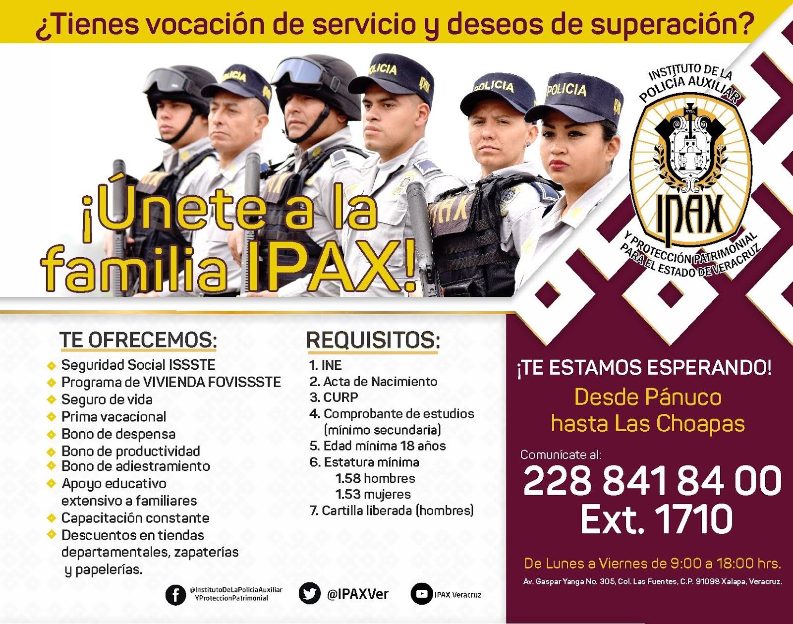 IPAX OFRECE EMPLEO A QUIENES TIENEN LA VOCACIÓN DE LA CARRERA POLICIAL