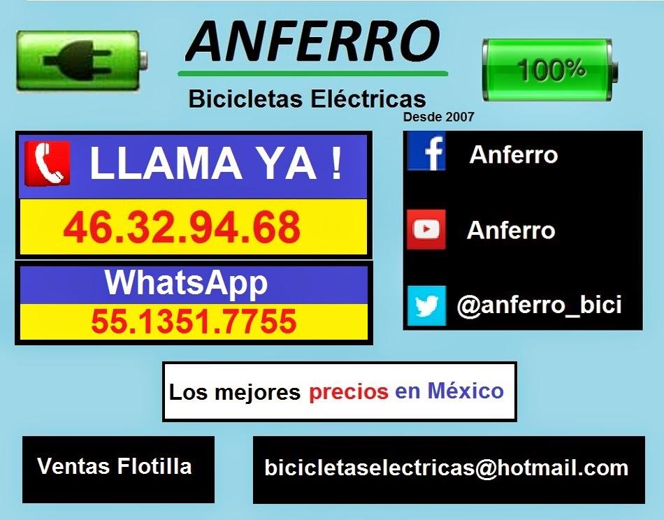 BICICLETAS ELECTRICAS MEXICO El mejor precio, comprobado. Refacciones y servicio