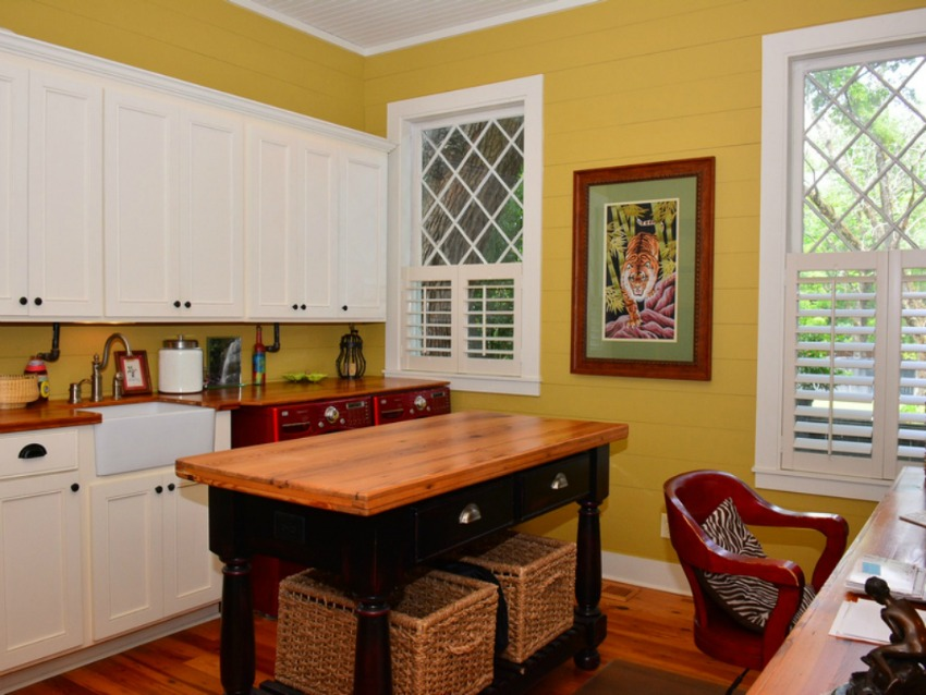 historic laundry room with modern conveniences