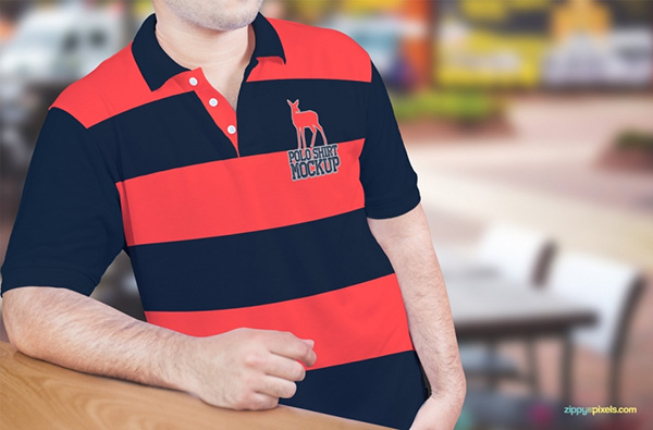 Download T-shirt Mockup PSD Terbaru Gratis - Amazing Free Polo Shirt Mockup