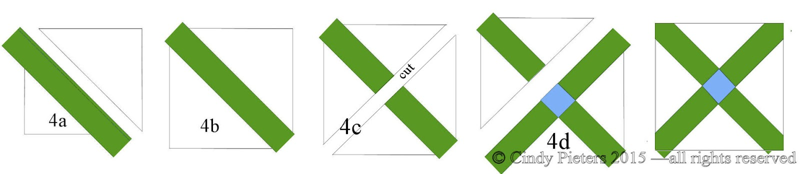 Stitchin At Home  Double Cross Block Pattern