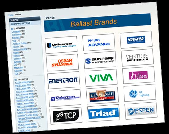 Shop by brand at BallastShop.com