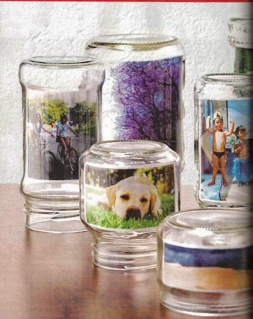 Porta retrato potes de vidro