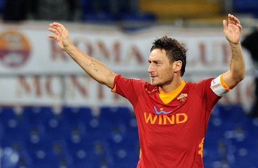 Francesco Totti has now scored 211 goals for AS Roma in a career spanning two decades