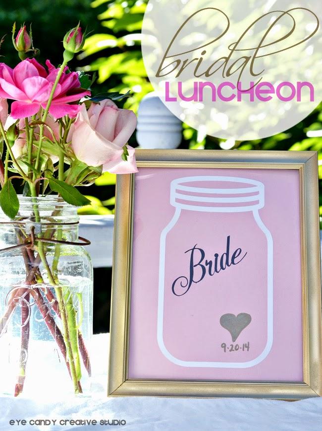 vintage bridal luncheon , vintage wedding shower, Ball jars, flowers