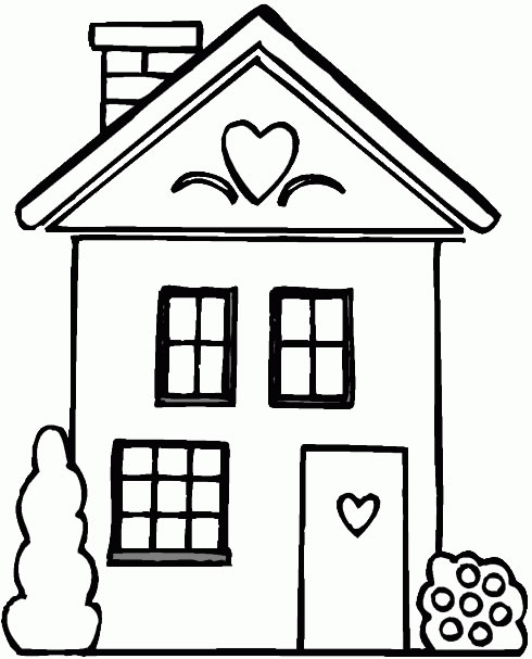 Free My House Coloring Pages