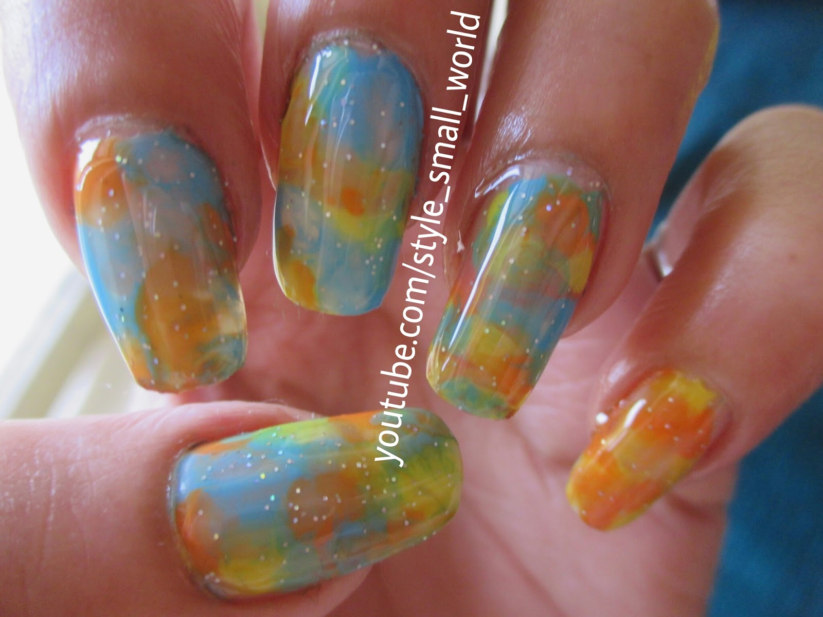 Style small world easy and simple nail art design without easy and simple nail art design without tools for beginners watercolor prinsesfo Images