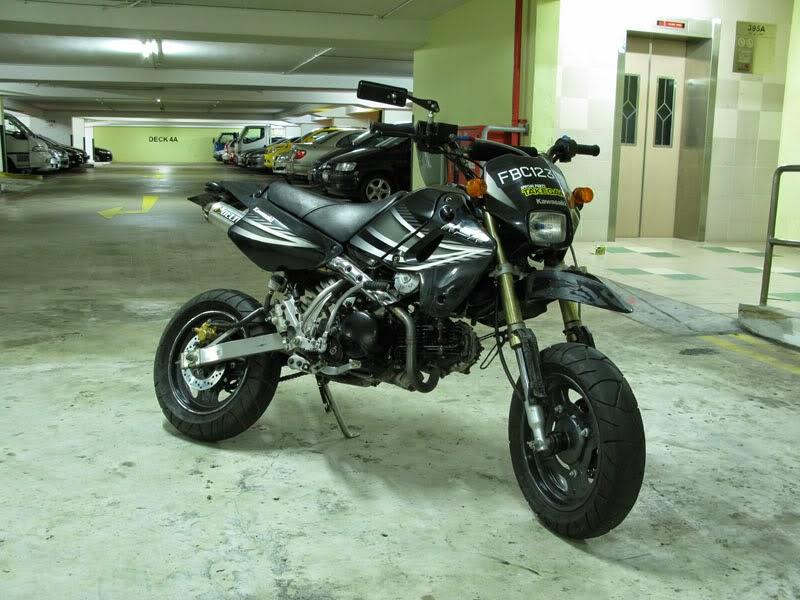 Modifikasi Kawasaki KSR 110 Hitam