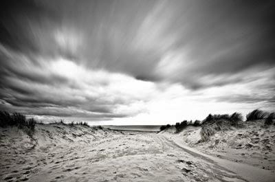 black white long exposure