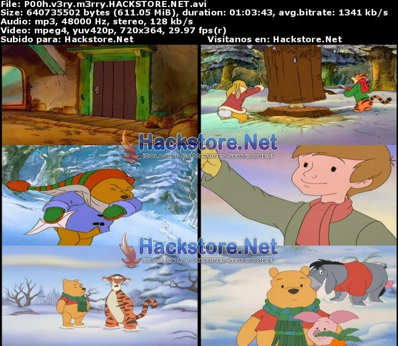 Captura Winnie the Pooh: Unas Navidades Megapooh (2002) DVDRip Latino