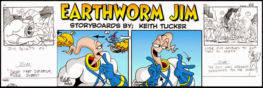 Keith Tucker Earthworm Jim Storyboards
