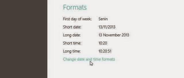 Cara Mengganti Format Tanggal dan Jam di Windows 8.1
