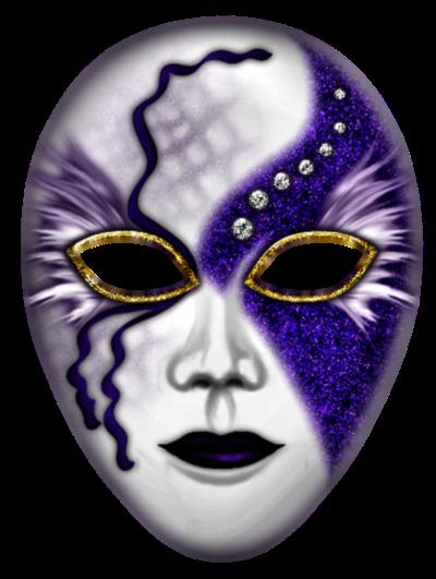 Máscara Carnaval PNG - Mistério blue