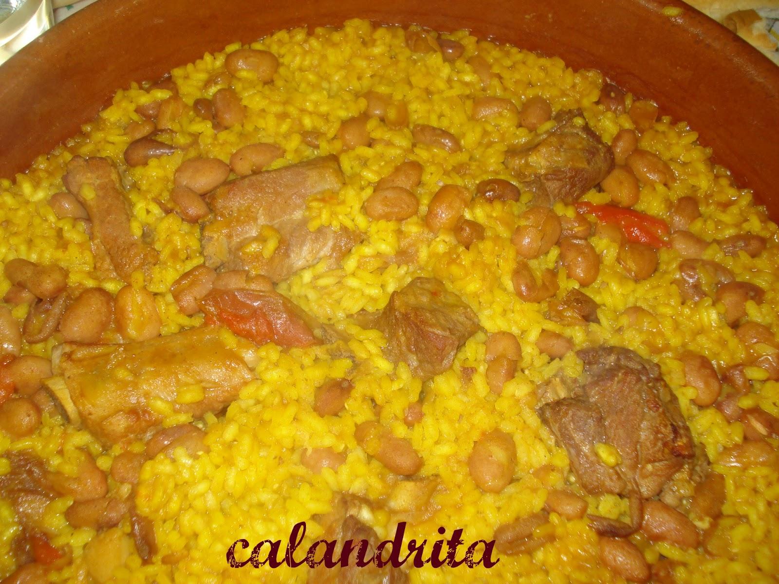 La cocina de calandrita arroz con alubias pintas - Arroz con judias pintas ...