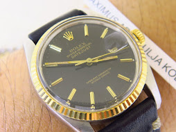 ROLEX OYSTER PERPETUAL DATE JUST BLACK DIAL - ROLEX 16013