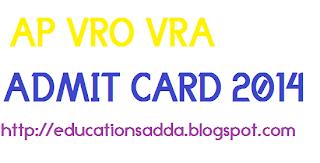 AP-VRO-VRA-ADMIT-CARD-2014