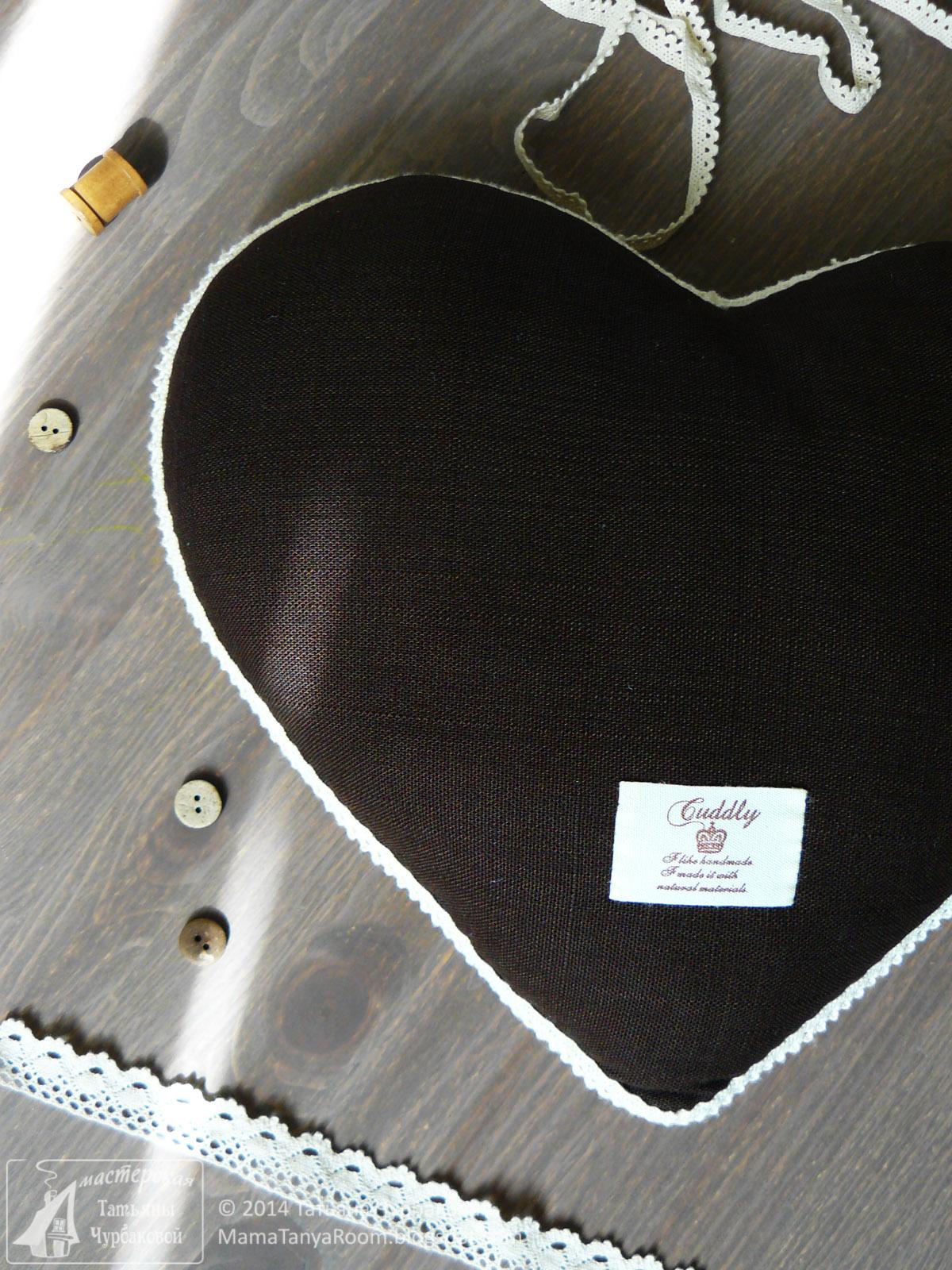 Ирландское кружево подушка-сердце