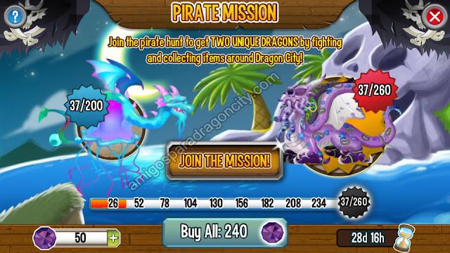 imagen del mapa de progreso de la isla pirata de dragon city para ipad