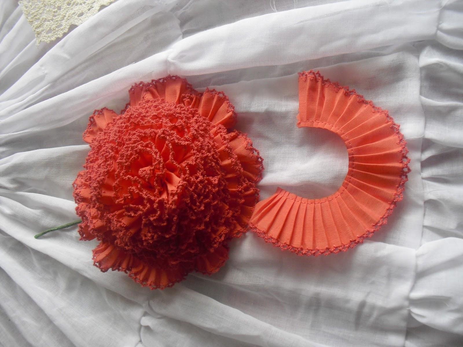 Azahar flores de tela hechas a mano - Flores de telas hechas a mano ...
