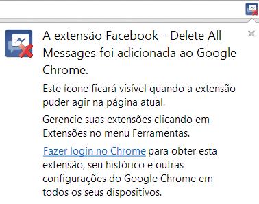 excluir todas extensões do facebook de uma vez