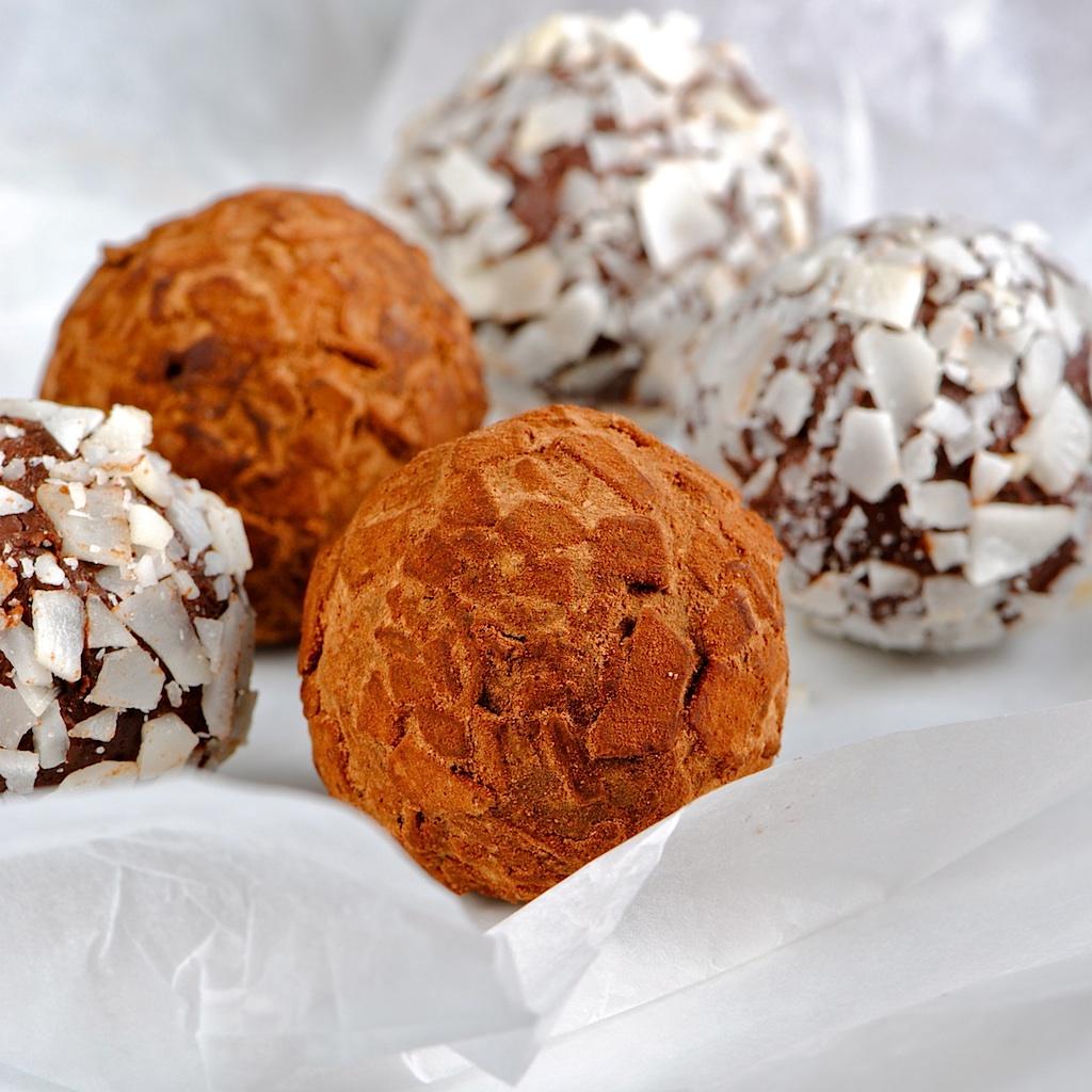 DARK CHOCOLATE COCONUT KEY LIME TRUFFLES