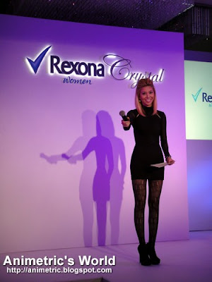 Bianca Valerio hosts the Rexona Crystal launch