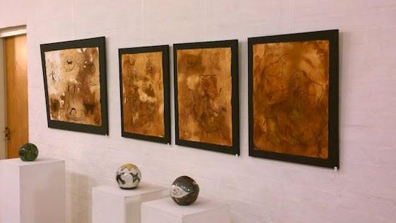 Anette Lind: Papirarbejder og keramik