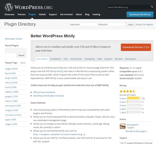 Better WordPress Minify