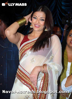 Aishwarya Rai Bachchan Special Pic in Saree Exposing Under her Blouse