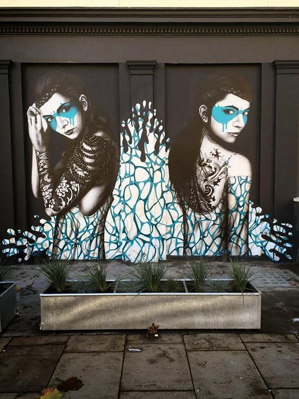 Hermosa musa pintado por Fin DAC en el oeste de Londres
