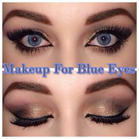 kinds of makeup for blue eyes