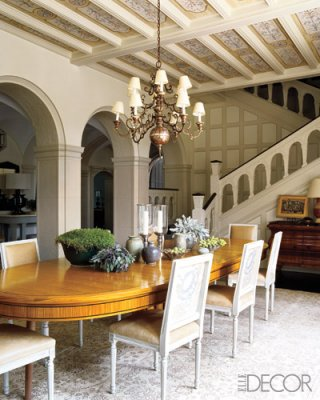 Unexpected interiors modern english tudor style for Elle decor best dining rooms