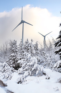 wind turbines, 2013 goals, winter photographs, public domain photographs