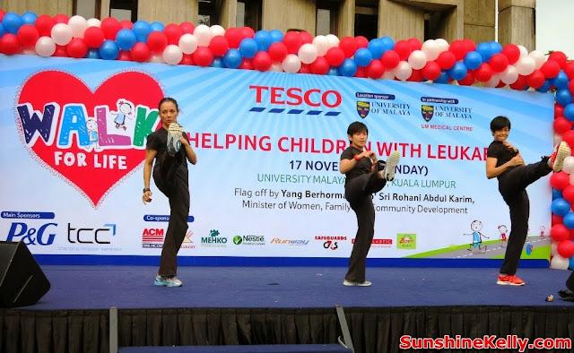 Tesco Walk, Walk For Life 2013, Fitness, charity walk, Clubcard Cop Cop Day Challenge, university of malaya, help children with leukaemia, Combat Dance Demo