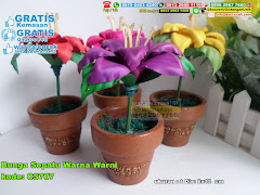 Bunga Sepatu Warna Warni