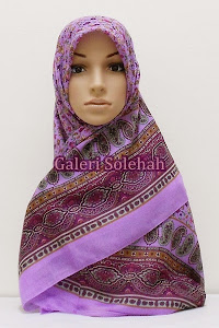 Tudung Miss Color Cotton Paisley Floral 50