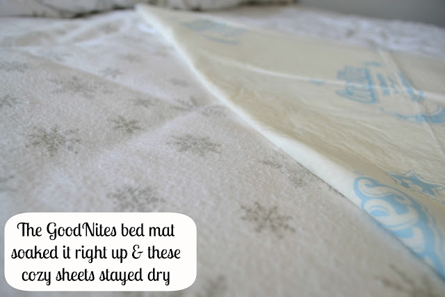 GoodNites disposable bed mats from walmart keep sheets dry!  #HuggiesWalmart