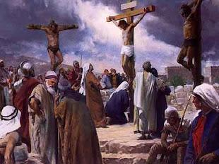 João 19:17 Tomaram eles, pois, a Jesus; e ele próprio, carregando a sua cruz, saiu para o lugar cha