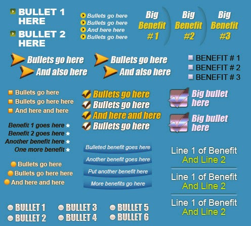 Pre-Formatted Bullets