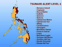 phivolcs, map of philippines, tsunami