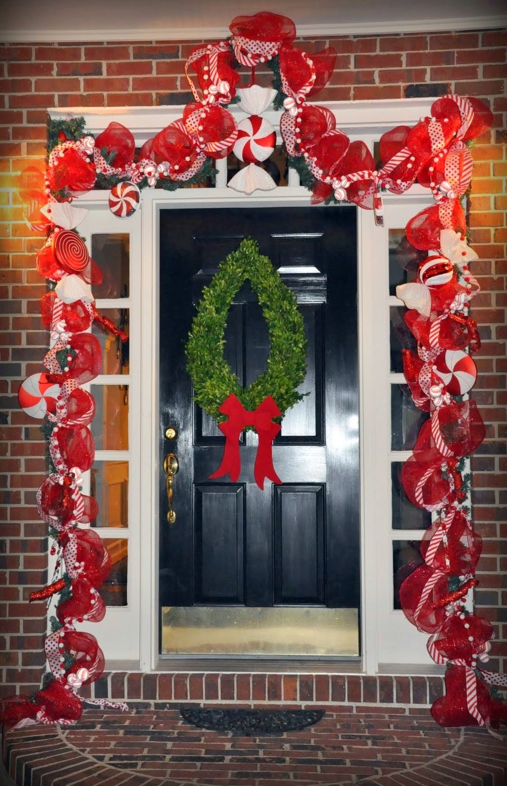 Front door deco mesh christmas decorations - Christmas Decor